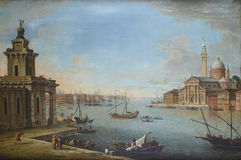 The Bacino Di San Marco, Venice, Looking East, with the Church of San Giorgio Maggiore Lámina giclée