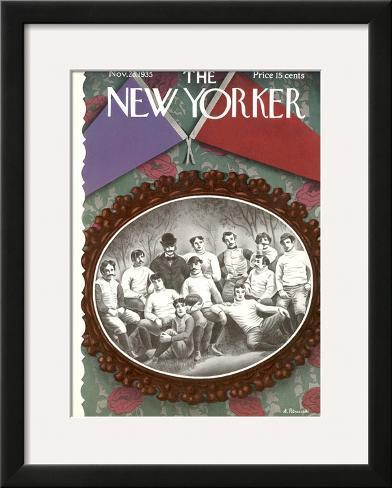 The New Yorker Cover - November 23, 1935 Framed Giclee Print