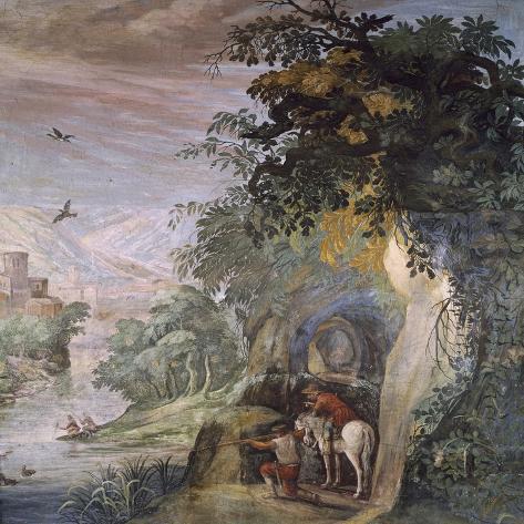 Hunting Scene, Fresco Giclee Print