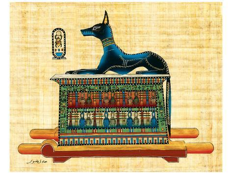 Anubis the God of Dead Stampa artistica