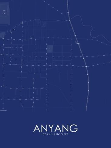 Anyang China Blue Map Prints At Allposters Com Au