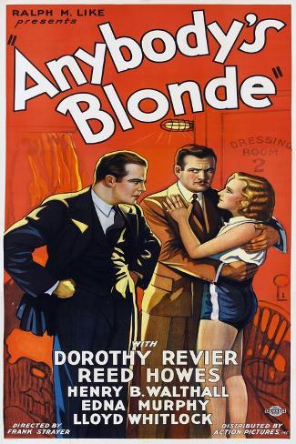 Anybody's Blonde Art Print