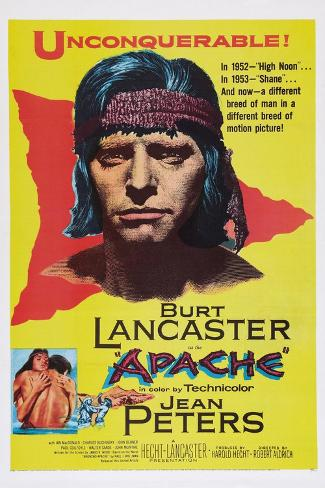 Apache, Burt Lancaster, 1954 Art Print