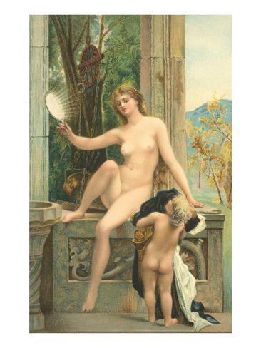 Aphrodite and Eros Art Print