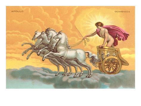 Apollo with Chariot Art Print
