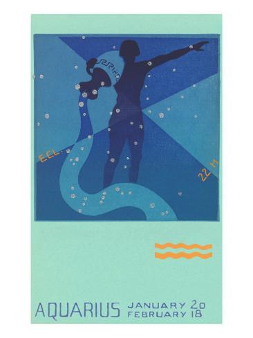 Aquarius, the Water Bearer Art Print