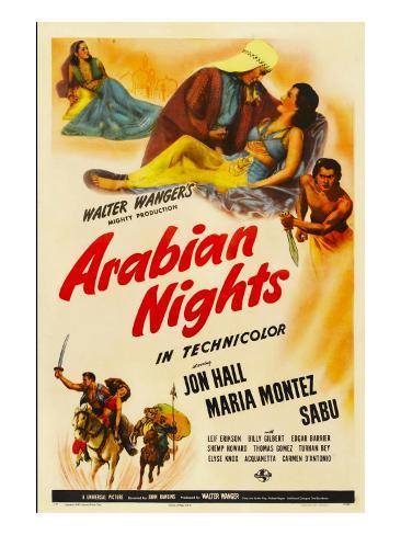 Arabian Nights, 1942, Poster Art Foto