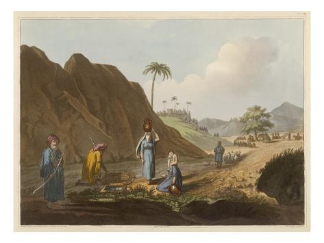 Arabs at Well, Jaffa Stretched Canvas Print