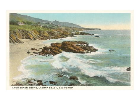 Arch Beach, Laguna Beach Art Print