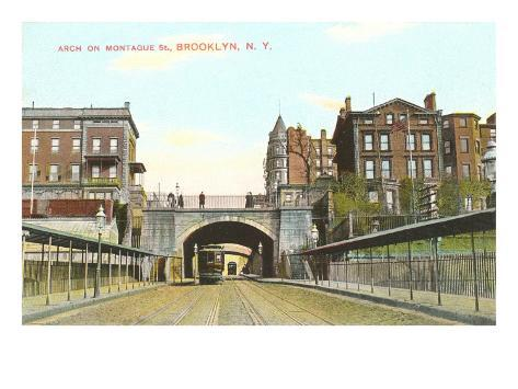Arch on Montague Street, Brooklyn, New York City Art Print
