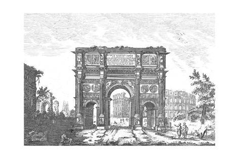 Arched Architectural Form Illustration Art Print