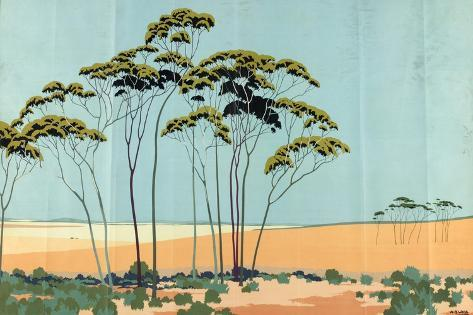 Australian Wheat, from the Series 'Australia's Wealth of Wheat and Wool' Giclee Print