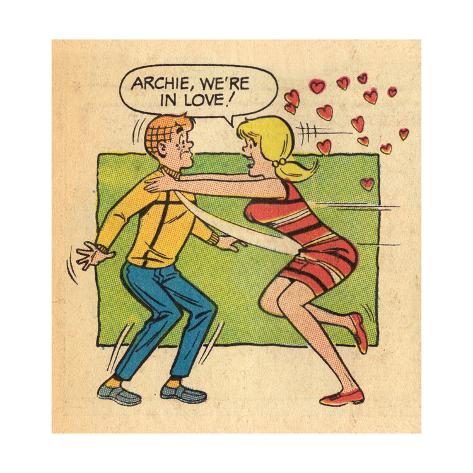 Archie Comics Retro: Archie and Betty Comic Panel; Archie, We're in Love! (Aged) Poster