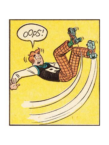 Archie Comics Retro: Archie Comic Panel; Rollerskating Oops! (Aged) Poster
