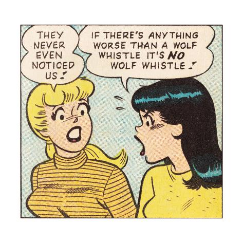 Archie Comics Retro: Betty and Veronica Comic Panel; Wolf Whistle (Aged) Poster