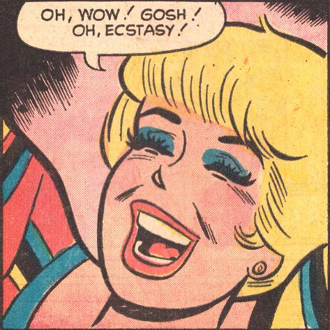 Archie Comics Retro: Betty Comic Panel; Ecstasy! (Aged) Poster