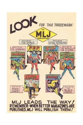 Archie Comics Retro: MLJ comics Advertisement (Aged) Stretched Canvas Print