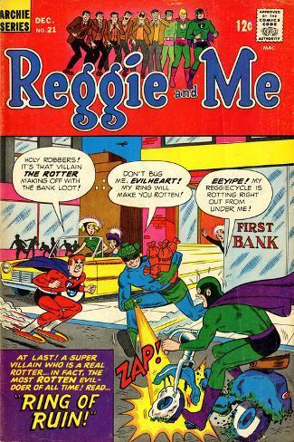 Archie Comics Retro: Reggie and Me Comic Book Cover No.21 (Aged) Stretched Canvas Print