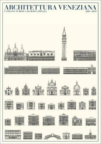 Architecture of Venice Art Print