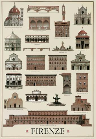 Architettura Firenze Poster