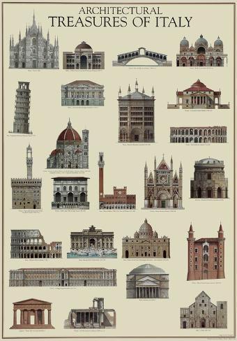 Architettura italiana poster na for Architettura italiana
