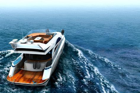 Luxury Yacht Photographic Print