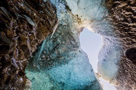 Ice Cave, Svinafellsjokull Glacier, Iceland Photographic Print