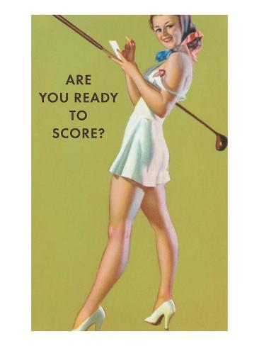 Are You Ready to Score? Art Print