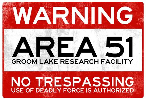 51 >> Area 51 Warning No Trespassing Sign Print At Allposters Com Au