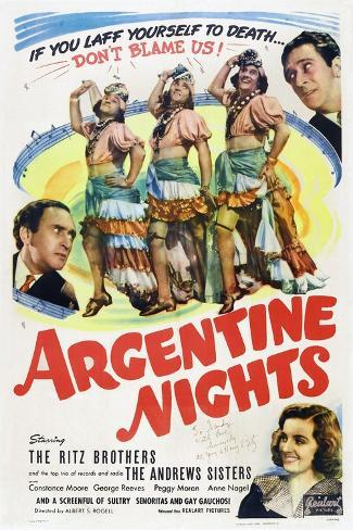 Argentine Nights, 1940 Art Print