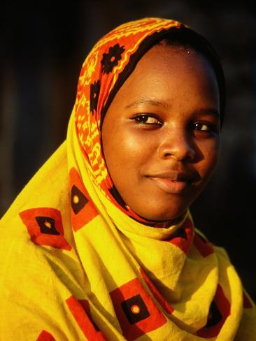 Portrait of Young Girl, Bagamoyo, Tanzania Photographic Print