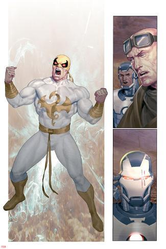 Iron Man 2.0 No.7: Panels with Iron Fist Poster