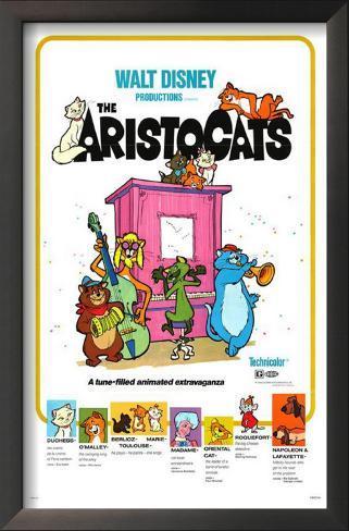 Aristogatas Impressão artística emoldurada