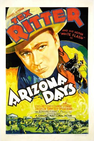 Arizona Days, Tex Ritter, 1937 Stampa artistica