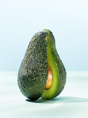 A Halved Avocado Photographic Print