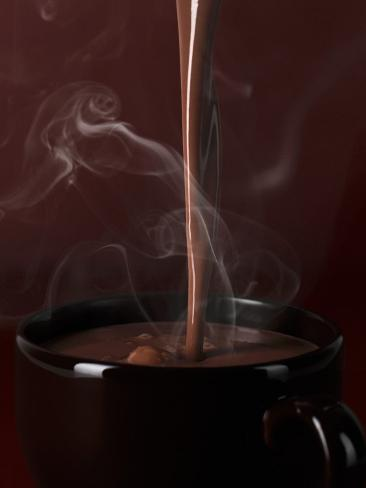 Pouring Hot Chocolate into a Cup Photographic Print