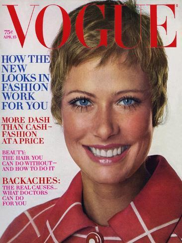 Vogue Cover - April 1970 Premium Giclee Print