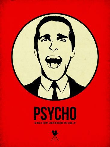 Psycho 1 Plastic Sign