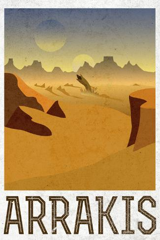 Arrakis Retro Travel Plastic Sign Cartel de plástico