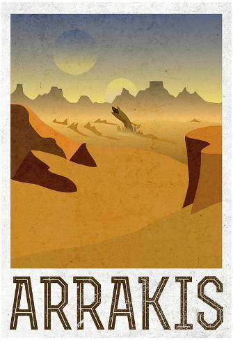 Arrakis Retro Travel Poster