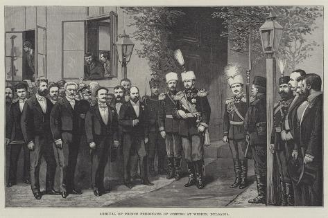 Arrival of Prince Ferdinand of Coburg at Widdin, Bulgaria Giclee Print