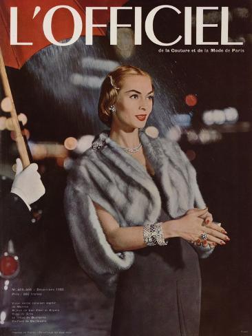L'Officiel, December 1955 Taidevedos