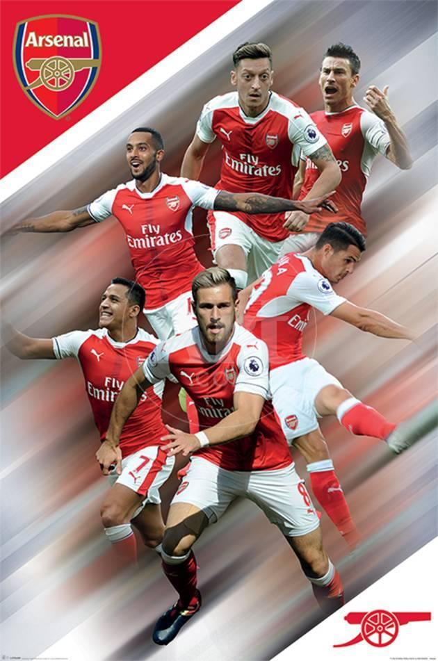 Arsenal FC - Players 16/17 Pósters en AllPosters.es