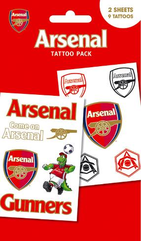 Arsenal Tattoo Pack Temporary Tattoos