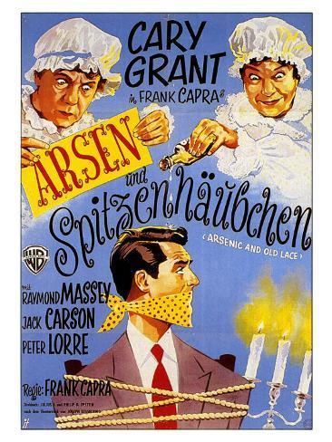 Arsenic and Old Lace, German Movie Poster, 1944 Art Print