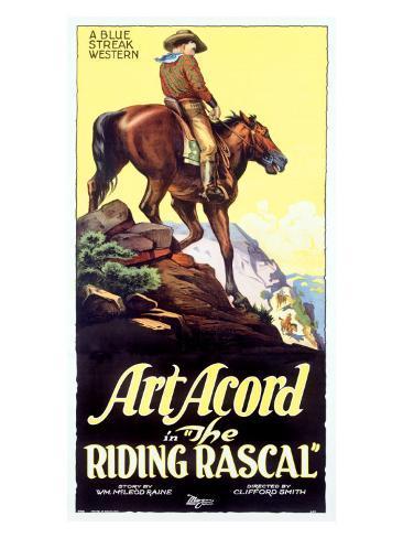 Art Acord Riding Rascal Cowboy Giclee Print