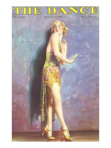 Art Deco Dancer Art Print