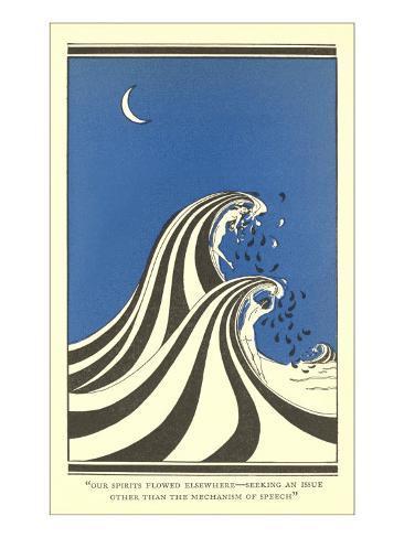 Art Deco Lovers in Waves Prints - AllPosters.co.uk