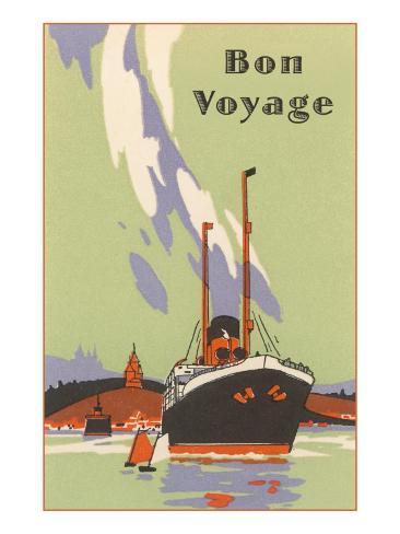 art deco ocean liner bon voyage poster at allposters com