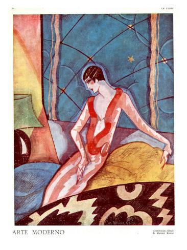 Art Deco Woman, Magazine Plate, France, 1920 Giclee Print